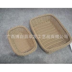 大量供应高品质KN18628A S/2环保PP编织篮 PE防真藤篮 环保又实惠