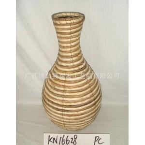 专业供应时尚花瓶 园艺花瓶 装饰插花器 手工编织花瓶 KN16628