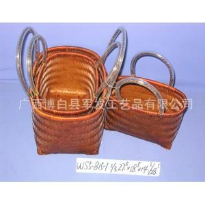 厂家直销手工编织竹篮 手提竹篮 购物环保竹篮 粽子包装篮