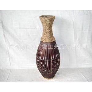 供应手工编织花瓶 落地插花瓶 草竹编花瓶 花器 花篮 KN16857
