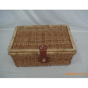 供应适合国内外市场的芒心编织野餐篮、书箱