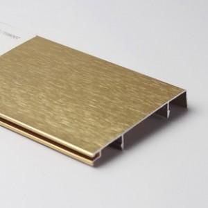 广西厂家直销铝合金踢脚线 地脚线批发 装饰线条可包施工安装