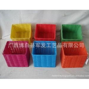 供应热卖商场超市礼品店可洗塑料PP编织收纳篮