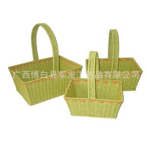 低价供应KN16246长形纸绳间色提篮 厂家直销