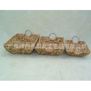 厂家直销不锈钢提手乱编水葫芦篮 手工编织储物篮 置物筐