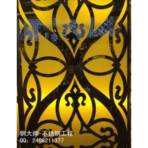 雕花镂空板、不锈钢装饰板、金属雕花板、激光切割镂空、雕刻激光