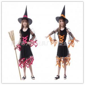 圣诞节儿童表演服装女装巫婆裙儿童cosplay公主裙 化妆舞会舞台服