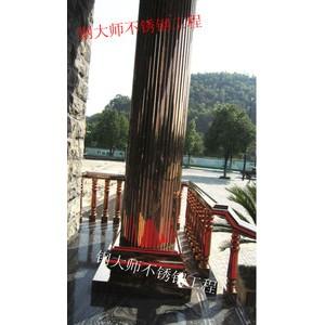 罗马柱 会所装修 不锈钢 装修工程 圆包柱 罗马柱 金属 建材
