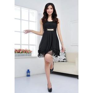 2014夏季女装新款无袖修身中裙连衣裙