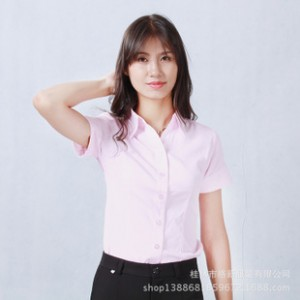 2014夏季新款女式雪纺衫批发 韩版时尚纯色短袖衬衫衬衣女装批发