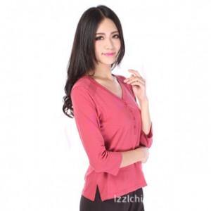 新 2013秋款 天周(香港)运动女装 大码 针织 纯色打底 T恤ZL602