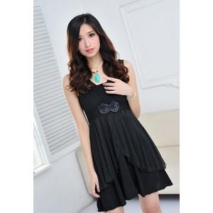 2014夏季新品上市女装黑色修身连衣裙