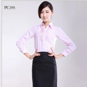 厂家直销 女装长袖时尚衬衣 2014新款商务工装衬衫  质量保证.