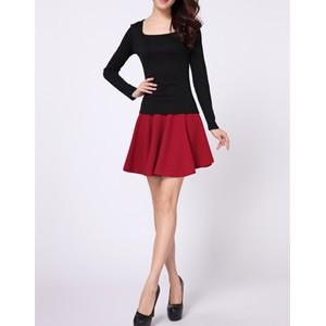 批发外贸服装女装长袖T恤方领羊毛绒新款韩版女式打底衫厂家直销