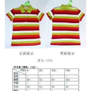 2013条纹女装翻领T恤