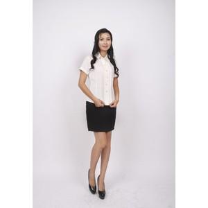 2014新款夏装 特色设计风琴百褶边 OL女装修身短袖女纯色雪纺衬衫
