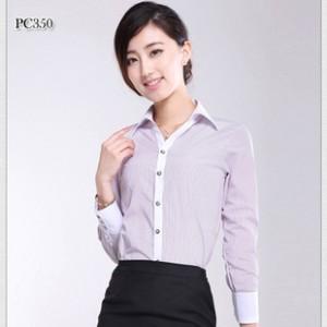 厂家直销 女装长袖修身 2014新款商务工装衬衫  不缩水质量保证.