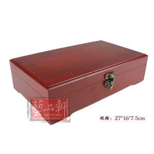 【艺品轩】工艺礼品包装 仿红木盒 锦盒 饰品微雕竹简木盒[大号]