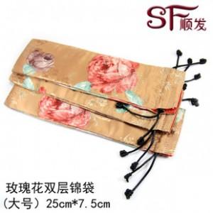 桂林顺发梳子饰品专用锦袋锦囊 定制精美大号双层丝绸袋 新品包邮