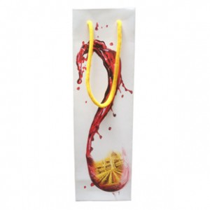 红酒礼品礼袋纸袋简约时尚红酒礼品袋单支装手提红酒袋两色可选