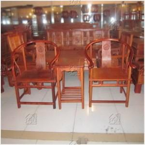 [红连地]缅甸花梨木圈椅 红木复古圈