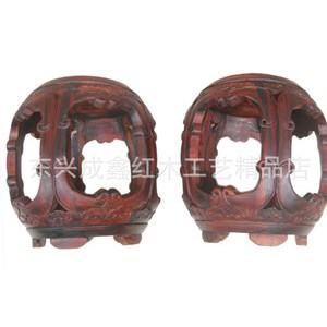 红木工艺品  红木家具 实木家具  老挝红酸枝鼓凳 加厚料