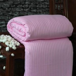 九梦尔家纺纯蚕丝被100%天然桑蚕丝 全棉缎条子母被 厂家直销批发