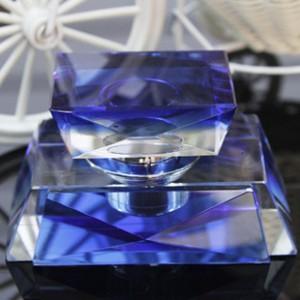 K9水晶香水座创意水晶双梯形网高档内饰用品批发高档汽车用品