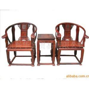 批发供应仿古古典红木家具 老挝大红酸枝皇宫椅 红木桌椅原色原木