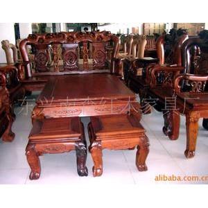 供应红木家具-红花梨玫瑰沙发(可以定做)