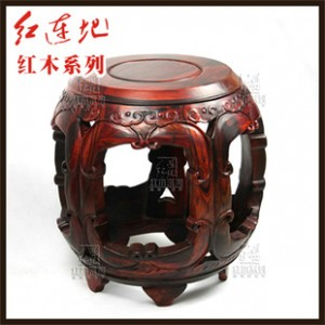 红木家具 老挝红酸枝如意餐椅 明清