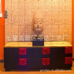 新中式仿古实木家具  家居电视柜 收