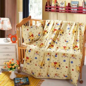 【包邮】儿童纯天然蚕丝被小熊维尼优质全棉面料品牌家纺厂家直销