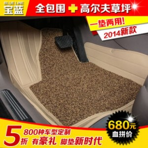 宝蓝 奔驰A200 A180 B180 B200 B260 smart 全包围汽车丝圈脚垫