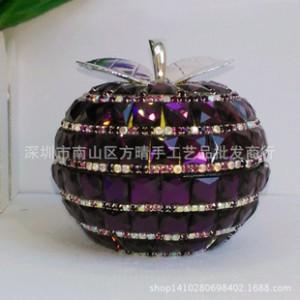 镶钻平安果汽车香水 高档水晶座式汽车摆件 创意苹果车载内饰用品