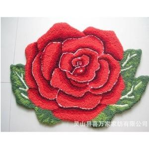 批发特价客厅卧室沙发茶几地毯 门垫脚垫浴室吸水可爱大花朵地垫