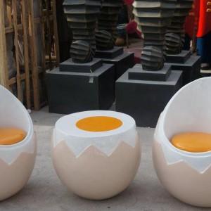 供应室内外用(创意)鸡蛋玻璃钢椅子