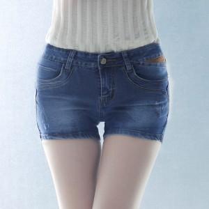 夏季女装牛仔短裤百搭直筒修身牛仔