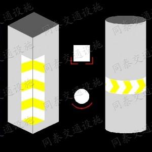 护角,配有醒目黄色反光警示条,黑黄相同,加强白天的可视性