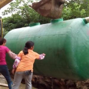 专业供应田阳县100立方玻璃钢化粪池