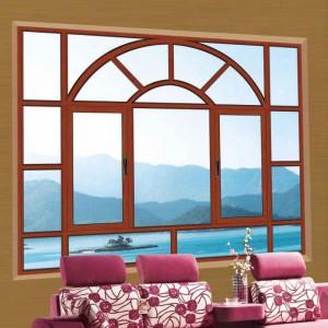 别墅洋房复合窗 铝合金组合窗 建材装饰铝合金窗